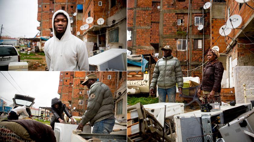 Família residente na torre anexa ao bloco 10 aproveita alguns eletrodomésticos deixados pelos antigos moradores.