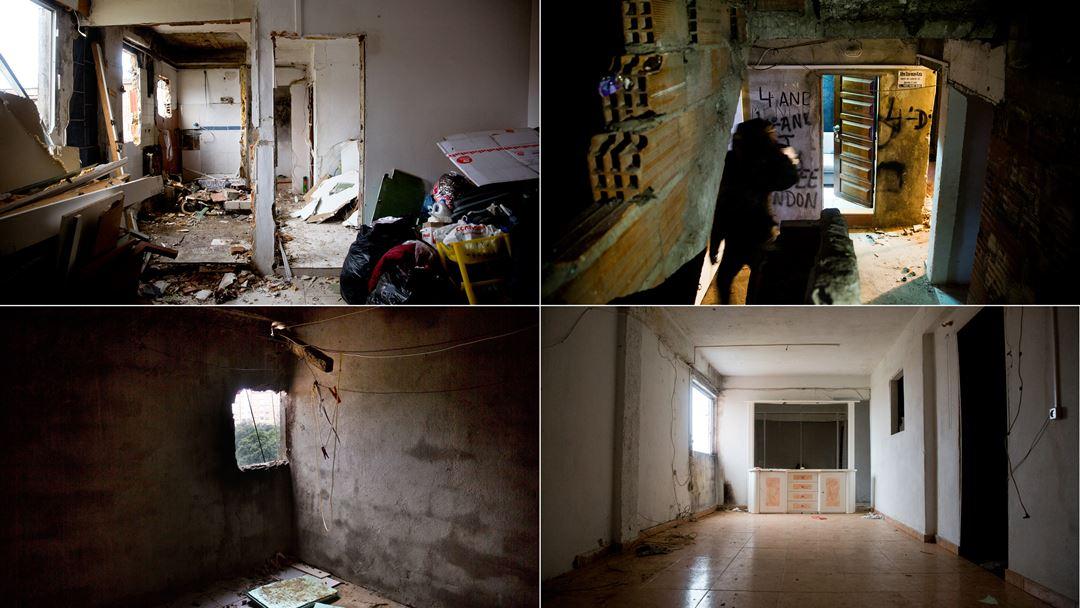 Casas desocupadas no interior do bloco 10.