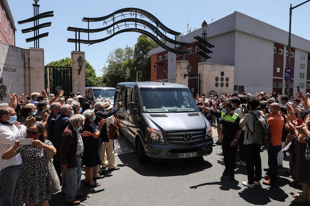 O funeral de Otelo Saraiva de Carvalho Foto: Miguel A. Lopes/Lusa
