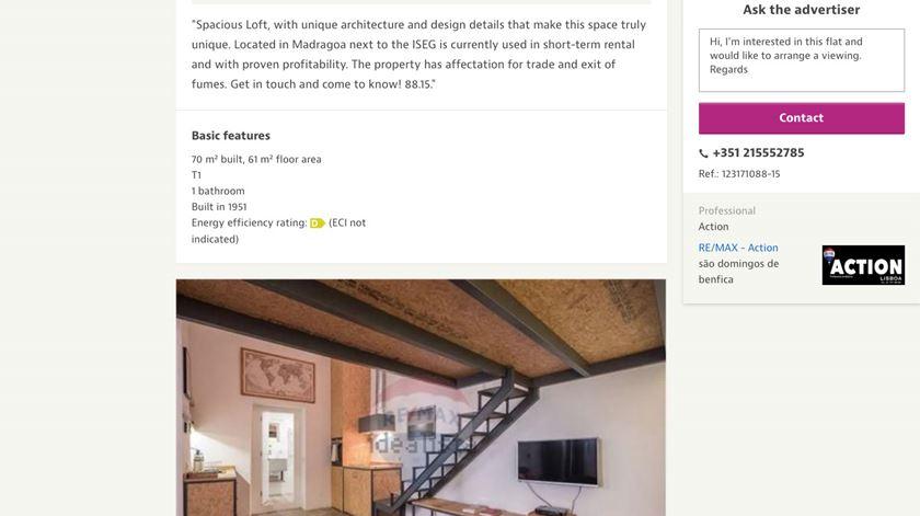 Anúncios de lojas vendidas para habitação em sites imobiliários