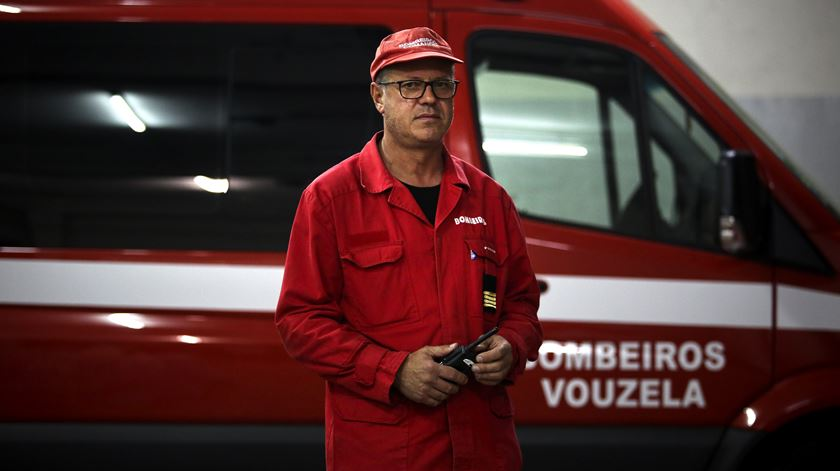 Joaquim Tavares, comandante dos Bombeiros Voluntários de Vouzela