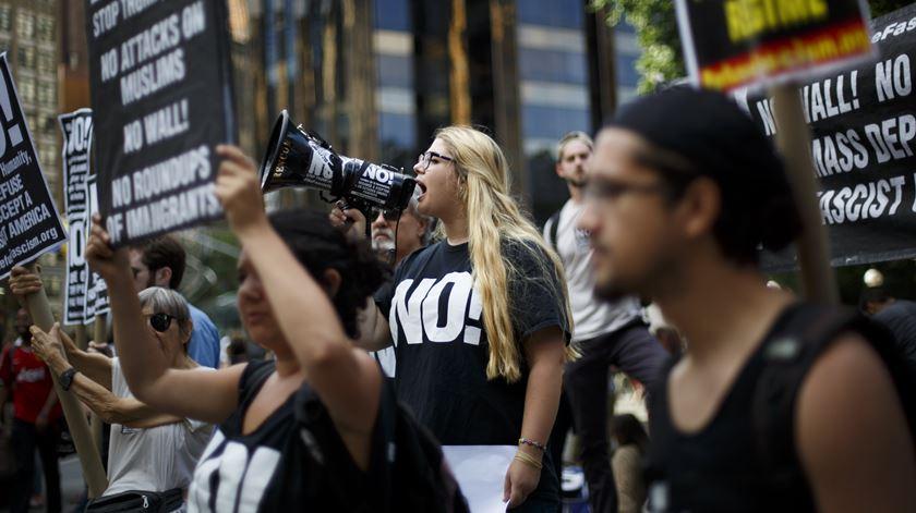 Protesto em Nova Iorque contra a decisão do Supremo. Foto: EPA
