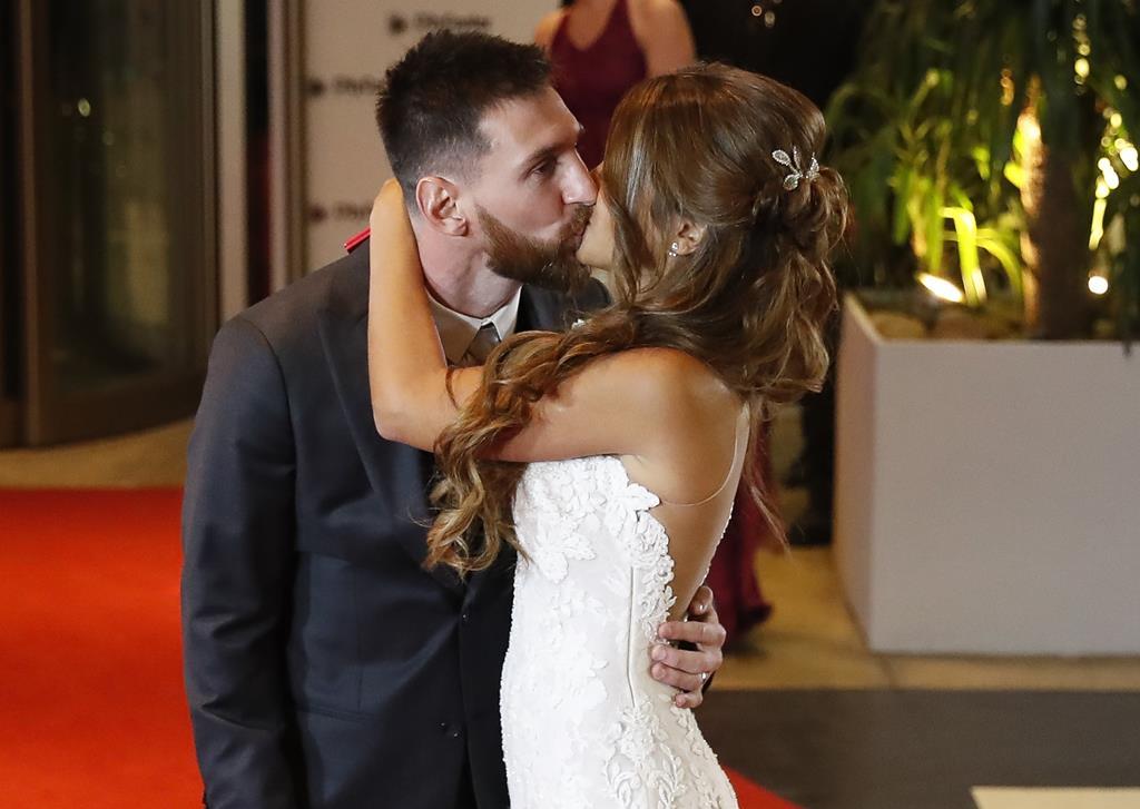 O casamento de Lionel Messi. Foto: David Fernandez/EPA