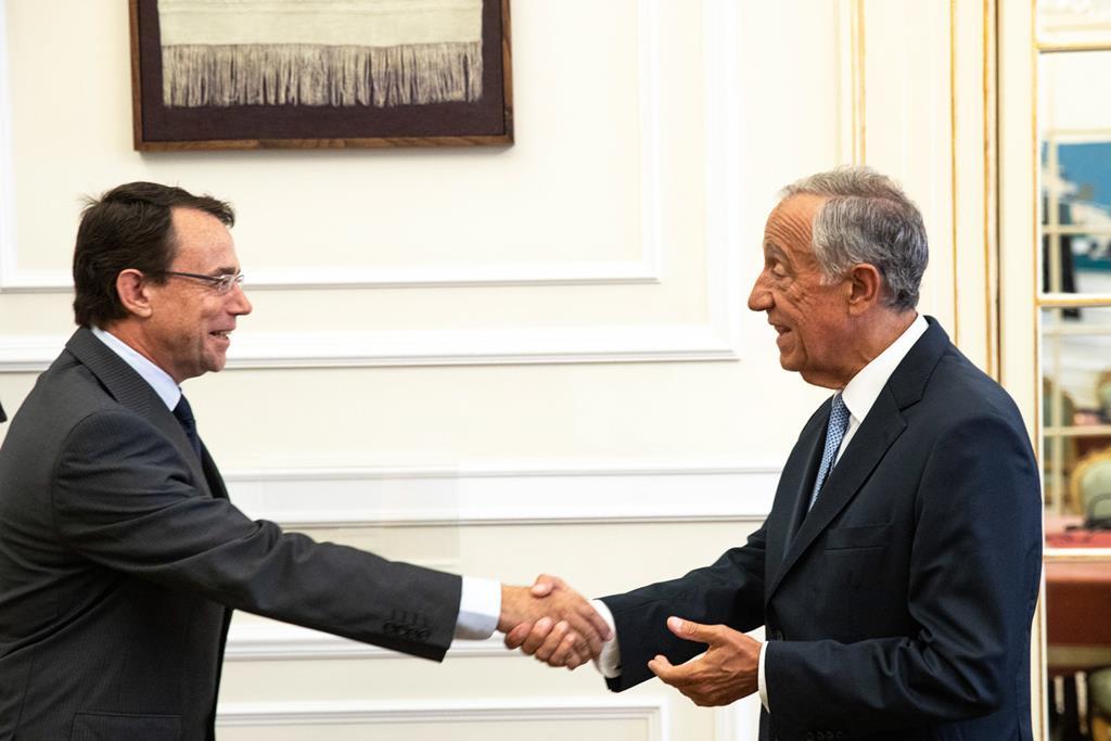 Paulo Ribeiro recebido pelo Presidente Marcelo Rebelo de Sousa. Foto: Mário Figueiredo Lopes/Presidência da República