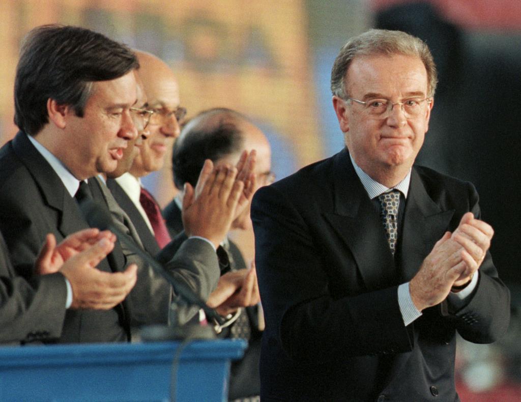 António Guterres e Jorge Sampaio na inauguração da Expo 98. Foto: Reuters