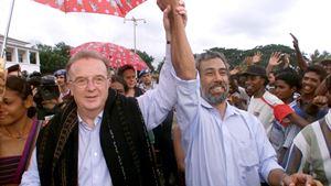 Jorge Sampaio. Ximenes Belo agradece contributo para a causa timorense