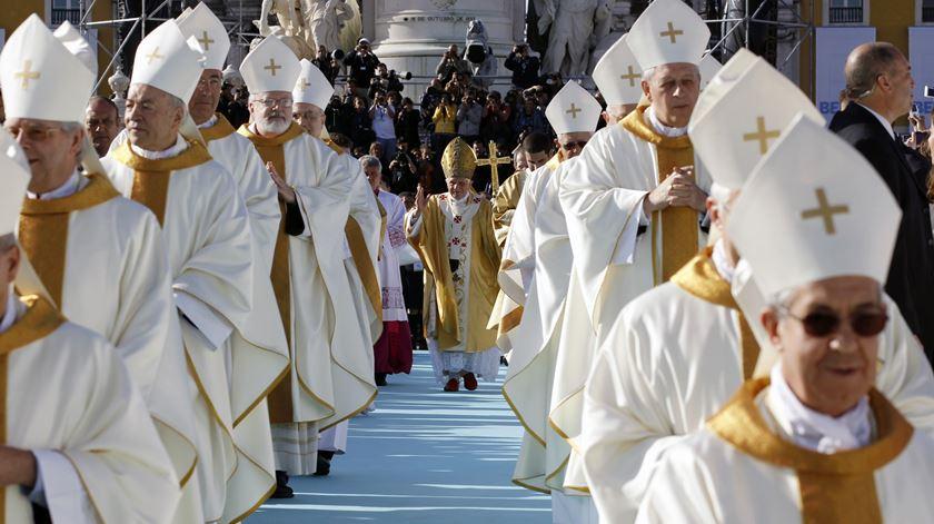 Bento XVI na missa que celebrou no Terreiro do Paço em maio de 2010. Foto: Stefano Rellandini/Reuters