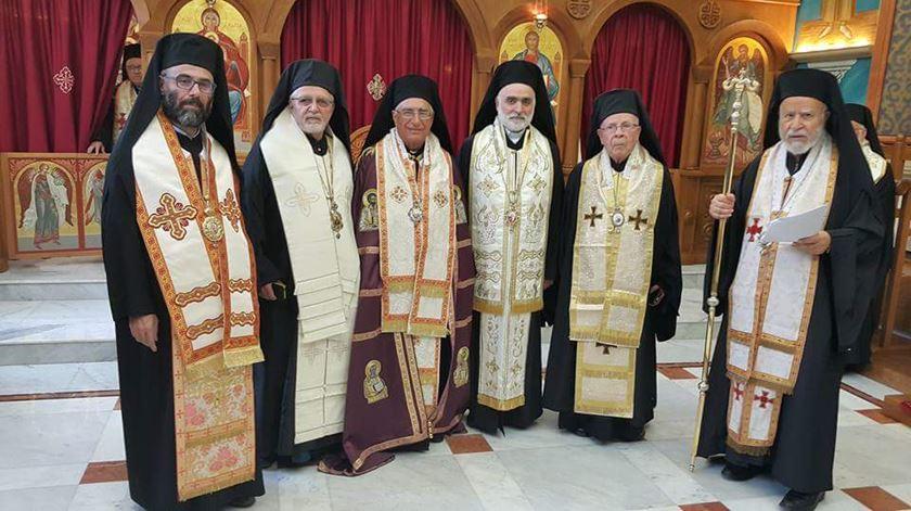 Joseph Absi, novo patriarca da Igreja Católica Melquita. (ao meio) Foto: DR