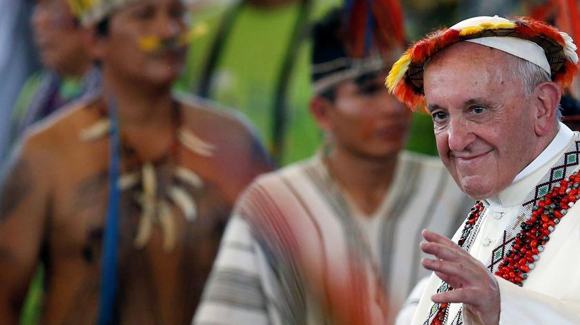 O Papa Francisco tem um sonho para a Amazónia. Foto: Henry Romero/Reuters