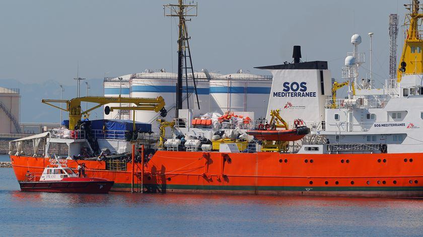 Aquarius, logo depois de atracar no porto de Valência. Foto: Reuters
