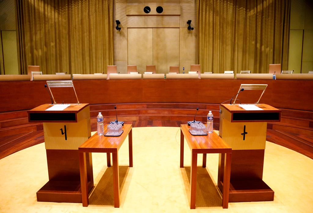 Sala principal do Tribunal Europeu de Justiça, no Luxemburgo. Foto: François Lenoir/Reuters