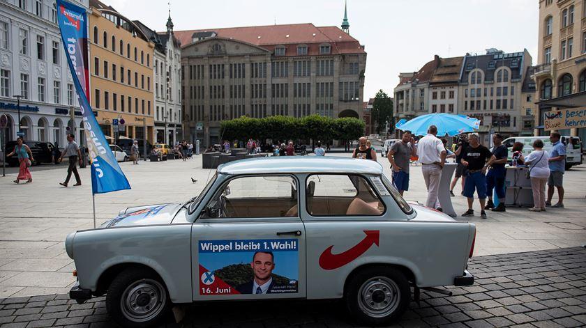 Apelo ao voto em Sebastian Wippel, da AfD, em Goerlitz, no leste da Alemanha. Foto: Pawel Sosnowski/Reuters