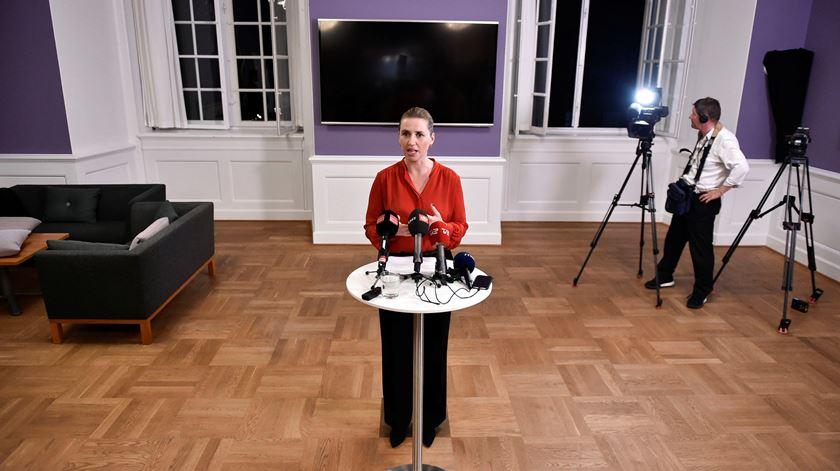 Mette Frederiksen, primeira-ministra da Dinamarca. Foto: Mads Claus Rasmussen/Reuters