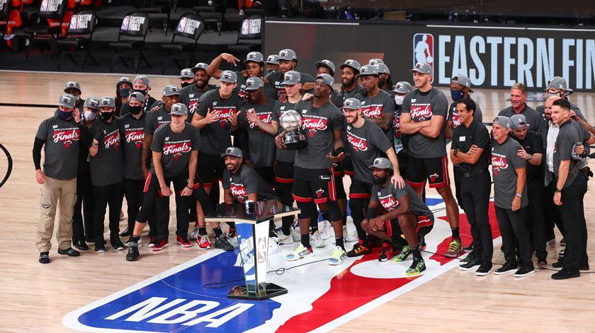 Heat vão disputar a final contra os LA Lakers. Foto: Kim Klement/Reuters