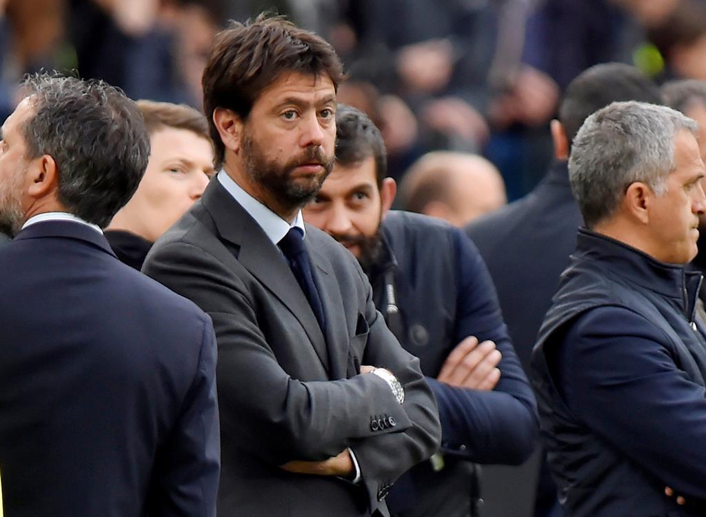 Andrea Agnelli, presidente da Juventus, é um dos defensores da criação da Superliga Foto: Alessandro Garofalo/Reuters