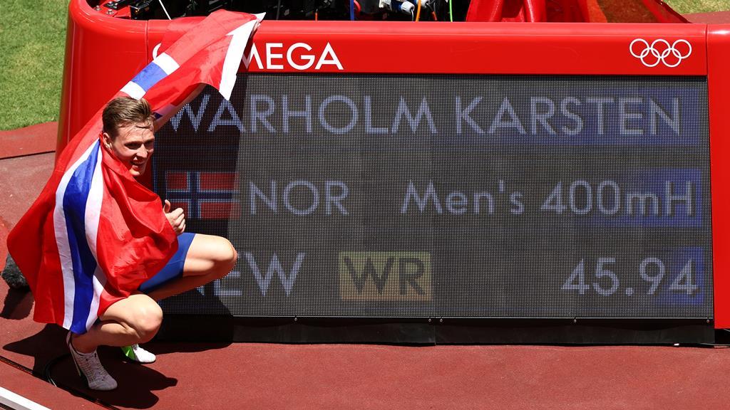 Primeiro atleta da história a correr abaixo dos 46 segundos. Foto: Andrew Boyers/Reuters