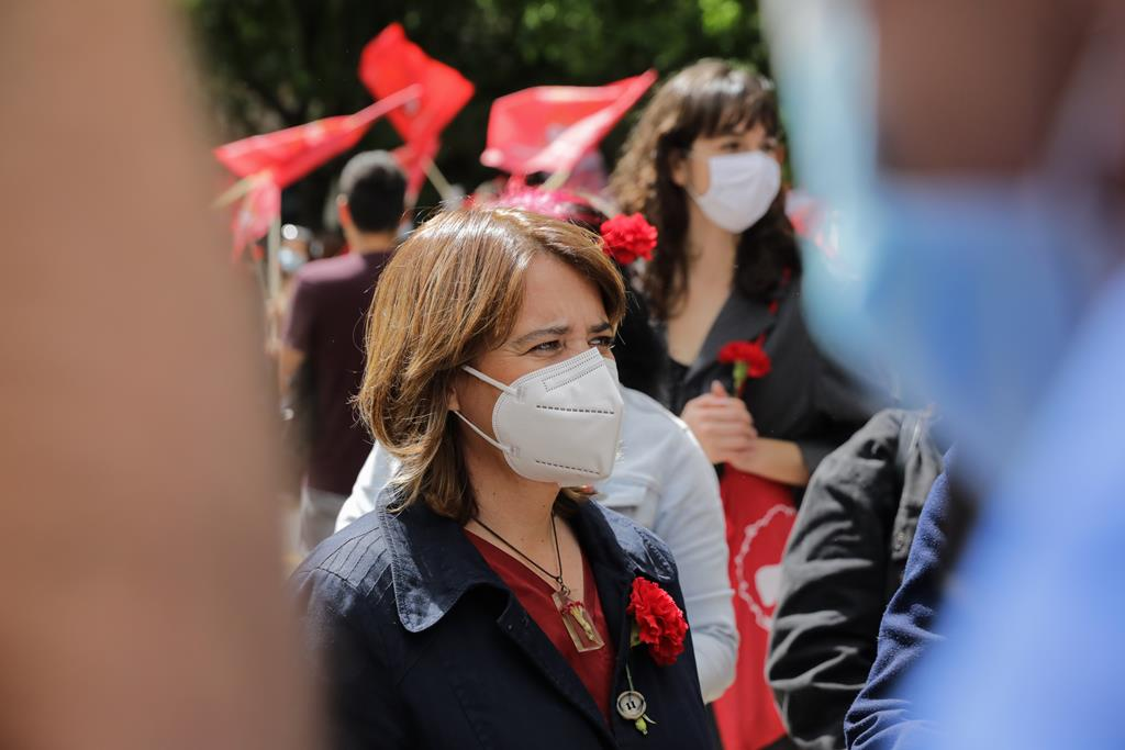 Catarina Martins defende fim de algumas restrições nesta fase de combate à pandemia. Foto: Hélio Carvalho/RR