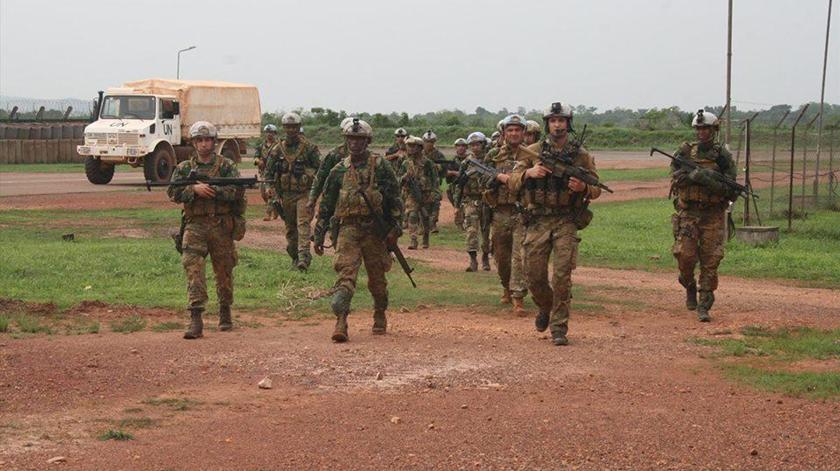 Militares portugueses integrados na missão da ONU. Foto: Forças Armadas