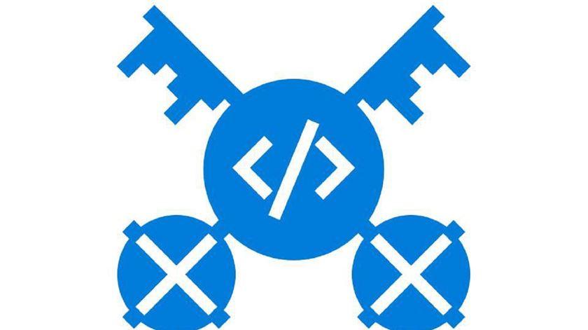 Logo do primeiro hackathon do Vaticano. Foto: Vhacks