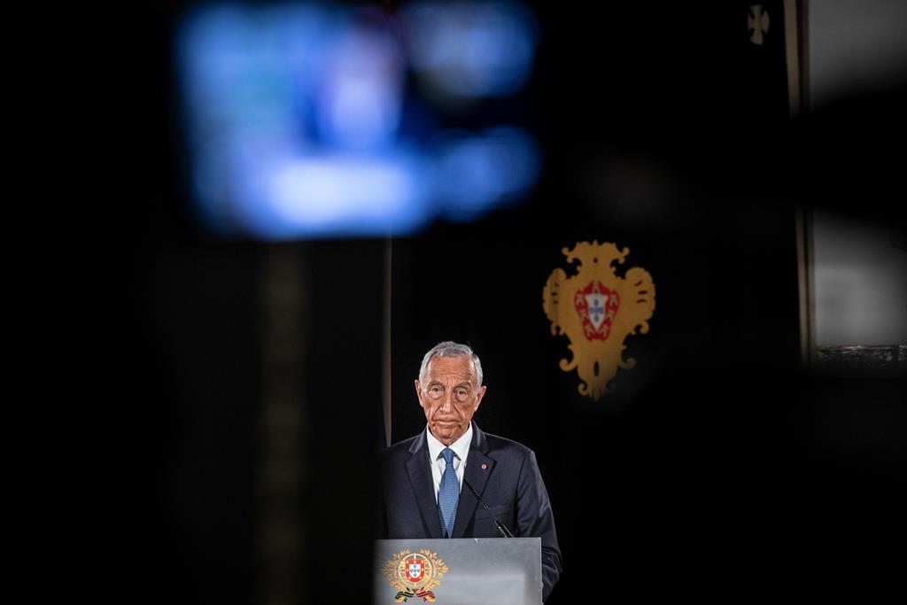 Presidente da República a falar ao país a 25 de Fevereiro. Foto: Miguel Figueiredo Lopes/Lusa