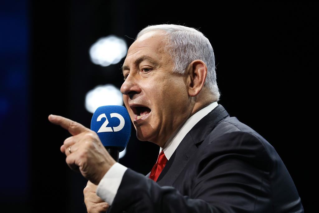 Benjamin Netanyahu ameaça com campanha prolongada em Gaza. Foto: Abir Sultan/EPA