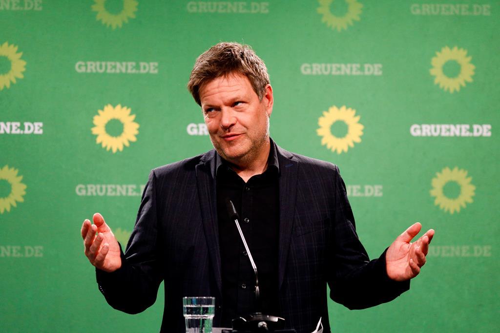 Robert Habeck, um dos líderes dos Verdes alemães. Foto: Filip Singer/EPA