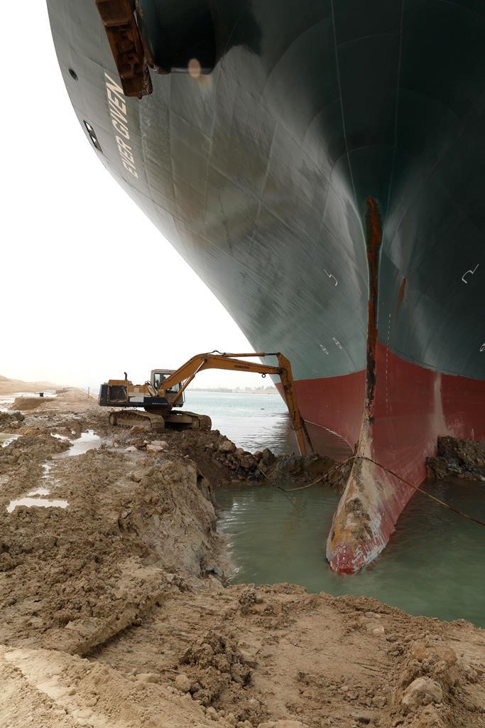 Foto: Administração do Canal do Suez/EPA