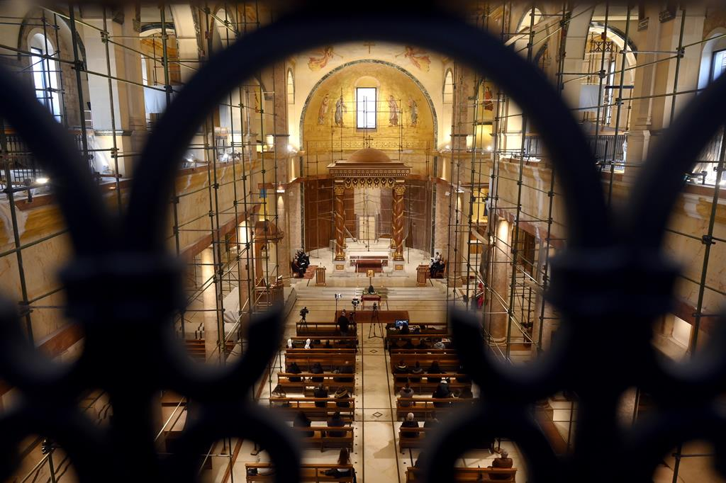Igreja S. Jorge Maronita, em Beirute. Foto: Wael Hamzeh/EPA