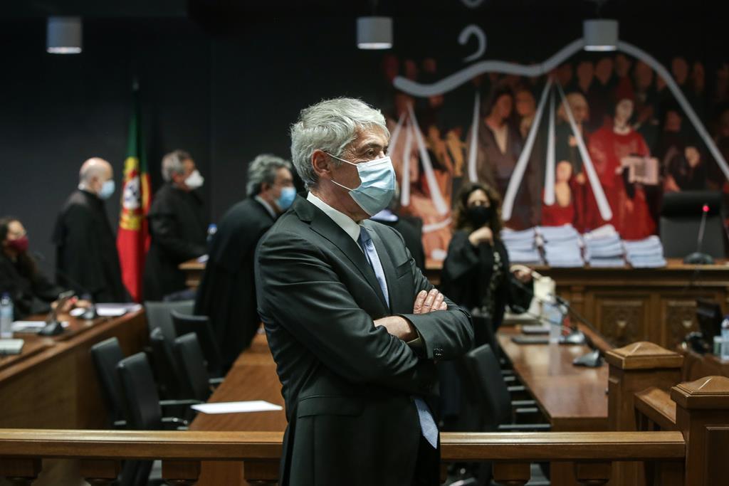 José Sócrates na leitura da decisão instrutória da Operação Marquês. Foto: Mário Cruz/Lusa