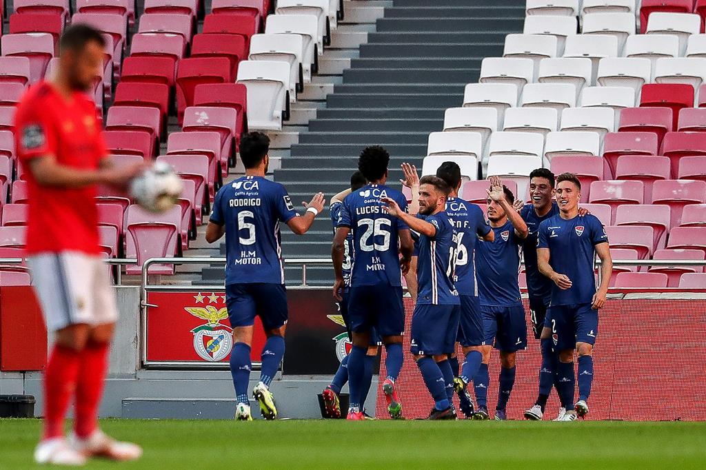 Lourency marcou pelo Gil Vicente diante do Benfica na Luz. Foto: Mário Cruz/Lusa