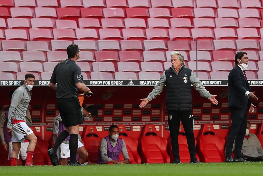 Jorge Jesus durante o Benfica - Gil Vicente. Foto: Mário Cruz/Lusa