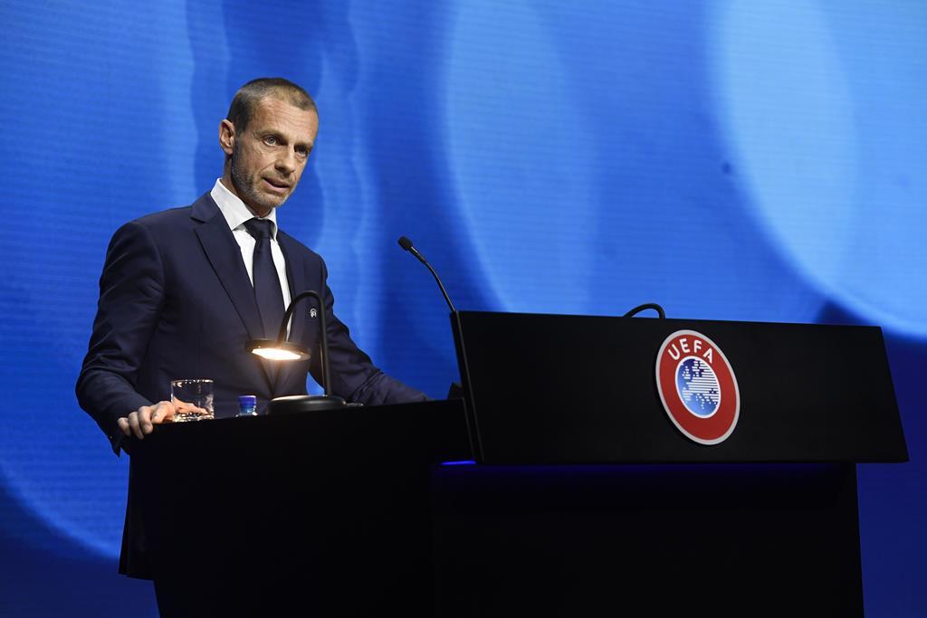 Aleksander Ceferin saudou o regresso dos ingleses à UEFA. Foto: Richard Juilliart/Uefa Handout/EPA