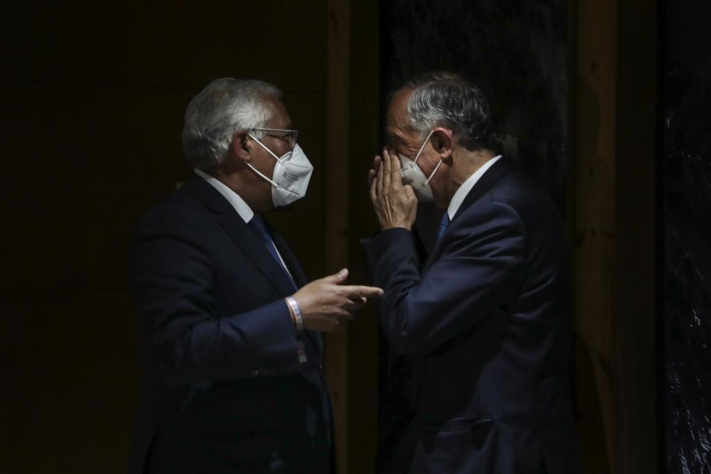 António Costa e Marcelo Rebelo de Sousa vão assinalar o 24 de março de 2022. Foto: Tiago Petinga/Lusa