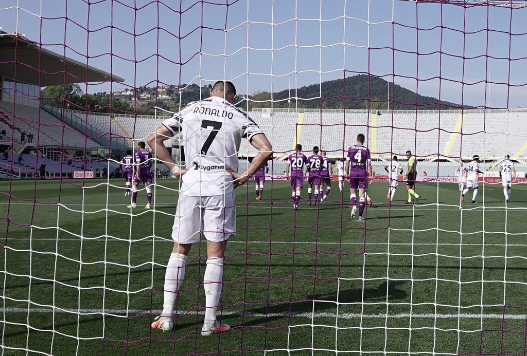 Juventus, de Cristiano Ronaldo, corre risco de exclusão do campeonato italiano Foto: Claudio Giovannini/EPA