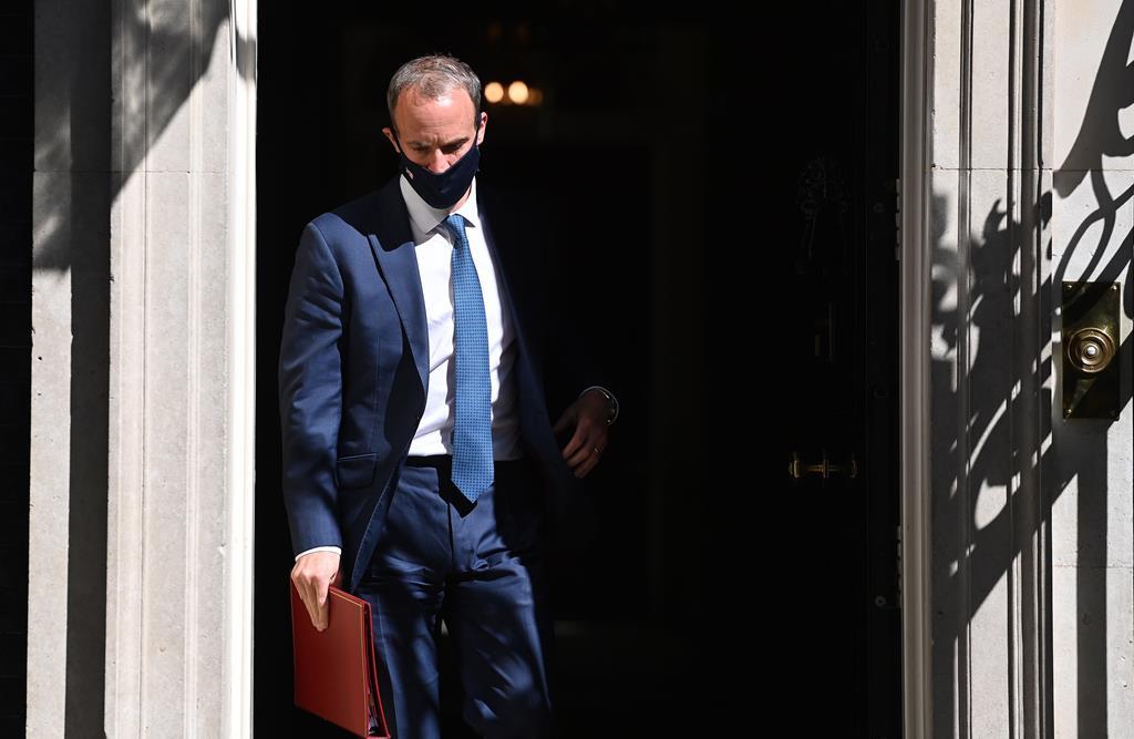 Dominic Raab ministro das Relações Exteriores do Reino Unido. Foto: Andy Rain/EPA