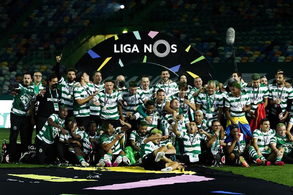 Sporting é o vigente campeão nacional de futebol. Foto: António Cotrim/Lusa