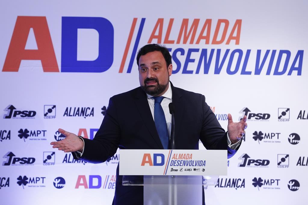 Nuno Matias é o cabeça de lista pela coligação PSD/CDS-PP/Aliança/MPT/PPM. Foto: António Cotrim/Lusa