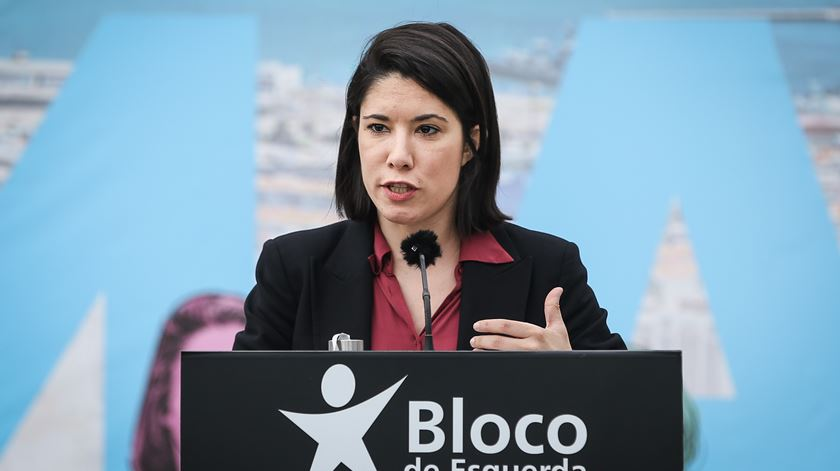Joana Mortágua, candidata do Bloco de Esquerda. Foto: Rodrigo Antunes/Lusa
