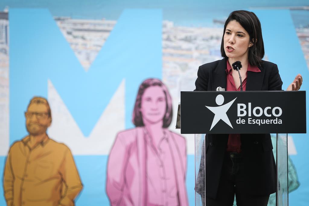 Joana Mortágua, candidata do Bloco, recusar integrar executivo com partidos de direita. Foto: Rodrigo Antunes/Lusa