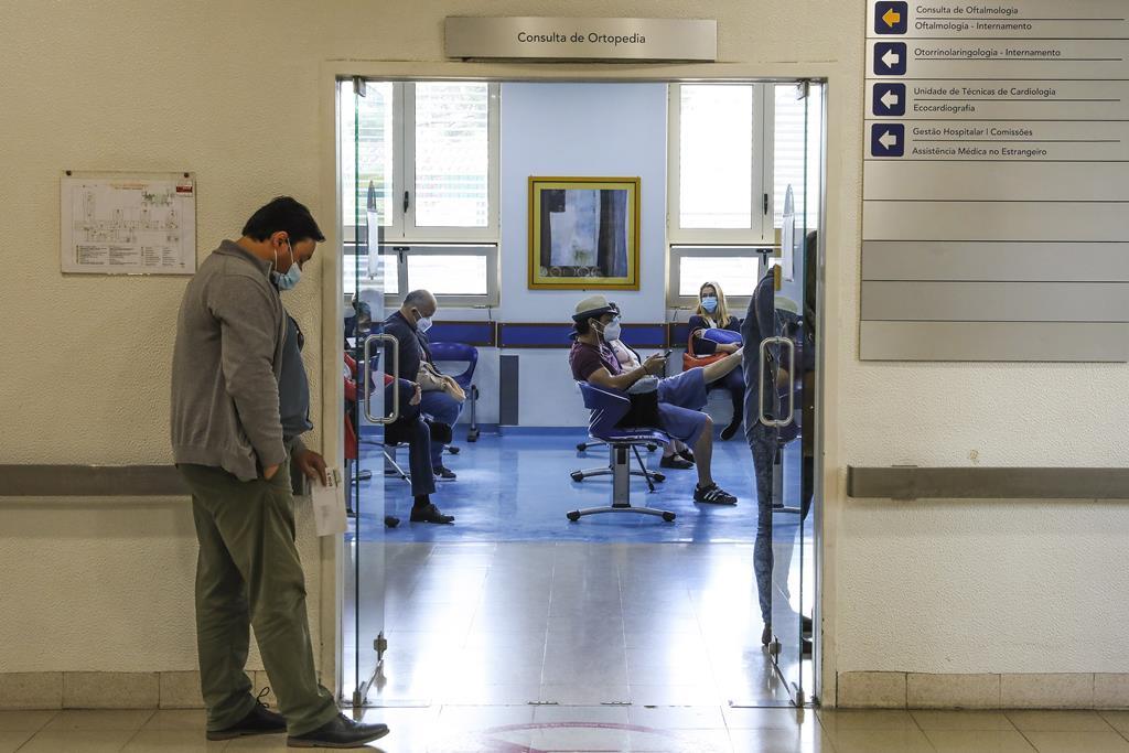 Hospital de Santa Maria com 94% de ocupação. Foto: João Relvas/Lusa