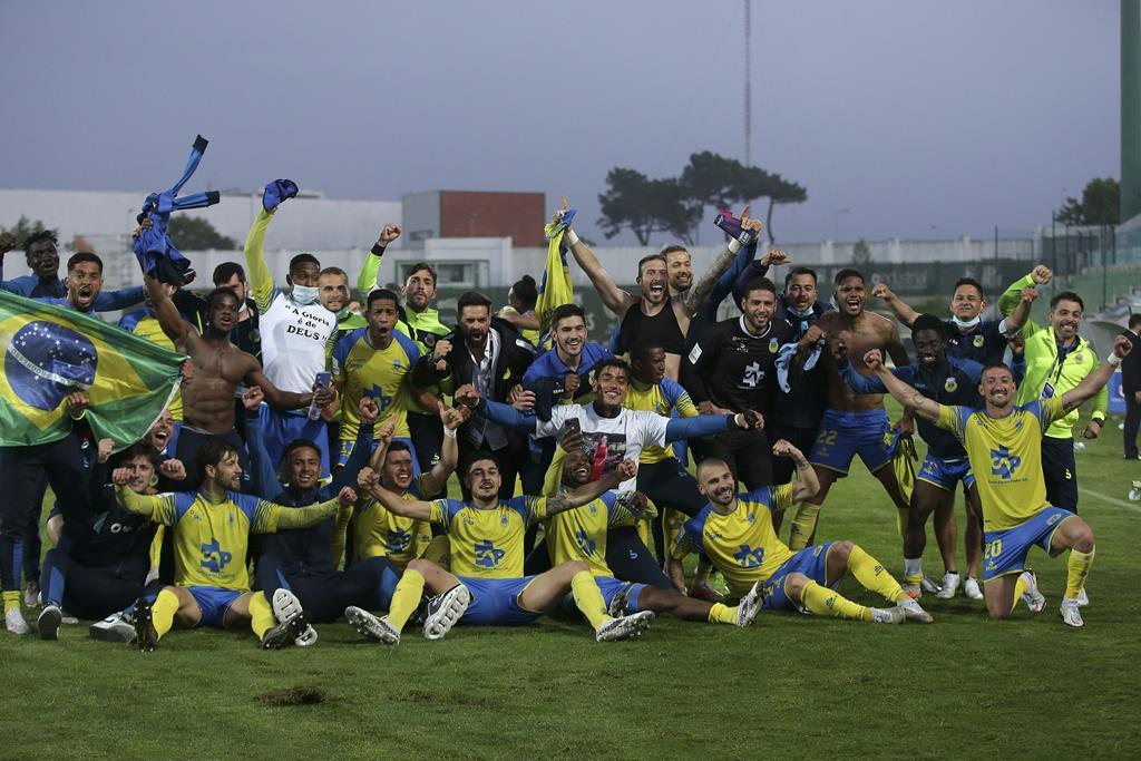 Os festejos do Arouca em Vila do Conde. Foto: Manuel Fernando Araújo/Lusa