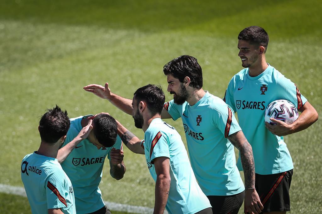 Portugal, seleção treino. Foto: Rodrigo Antunes/Lusa