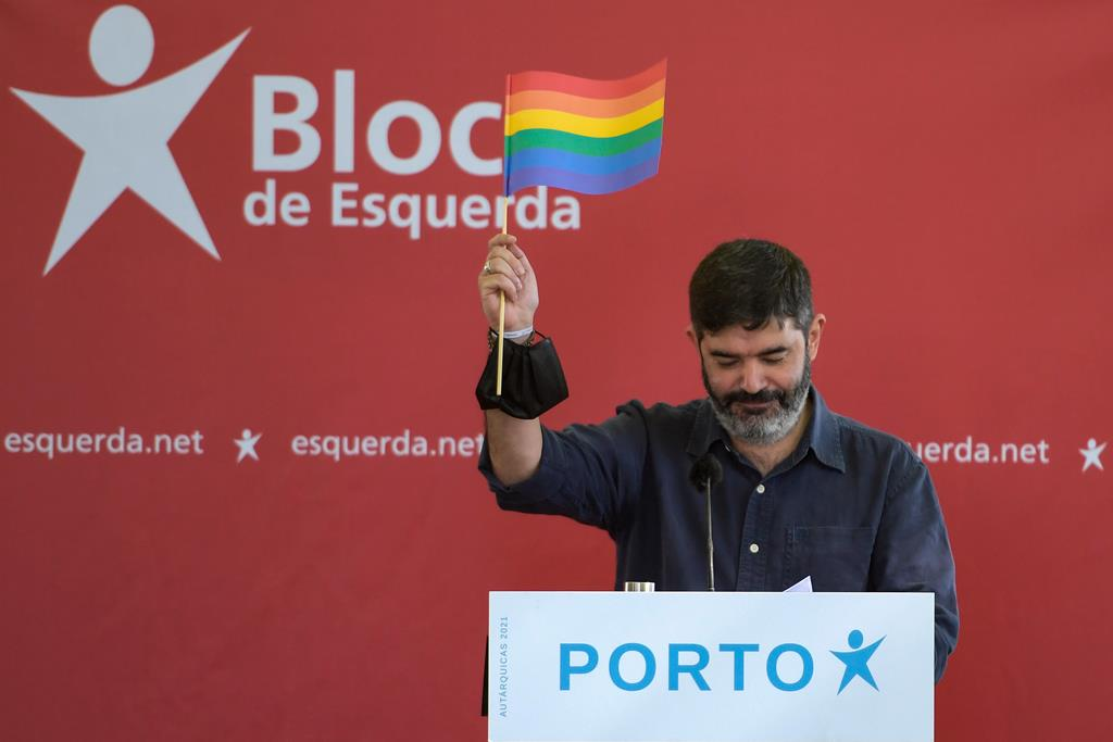 Sérgio Aires, candidato do Bloco de Esquerda. Foto: Fernando Veludo/Lusa