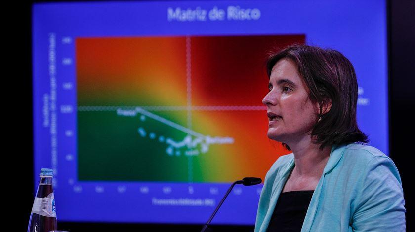 Mariana Vieira da Silva durante o briefing da reunião do Conselho de Ministros. Foto: António Cotrim/ Lusa