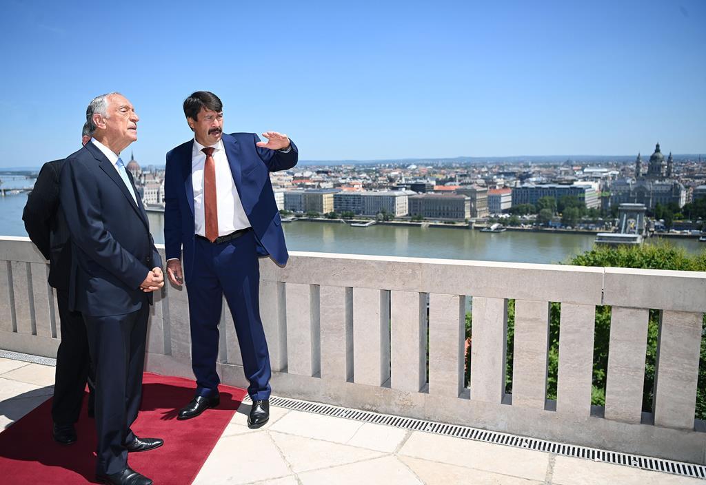 Marcelo Rebelo de Sousa de visita Budapeste antes do jogo de arranque de Portugal no Euro2020. Foto: Noemi Bruzak/EPA