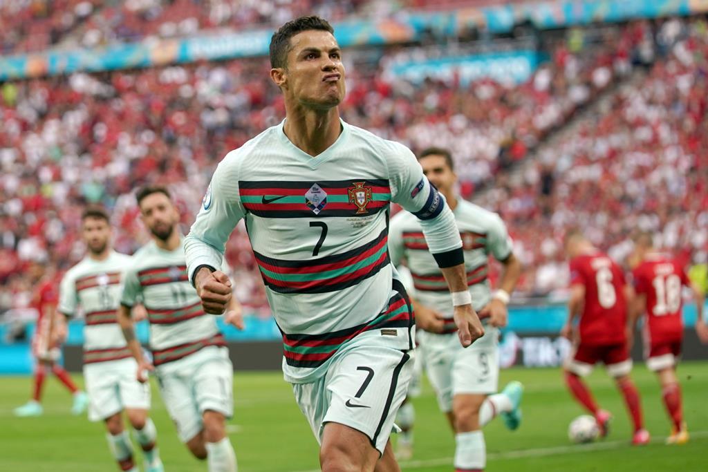 Cristiano Ronaldo marca dois à Hungria no Euro 2020. Foto: Hugo Delgado/Lusa