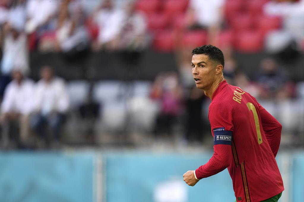 Cristiano Ronaldo golo Portugal Alemanha, Euro 2020 Foto: Hugo Delgado/Lusa