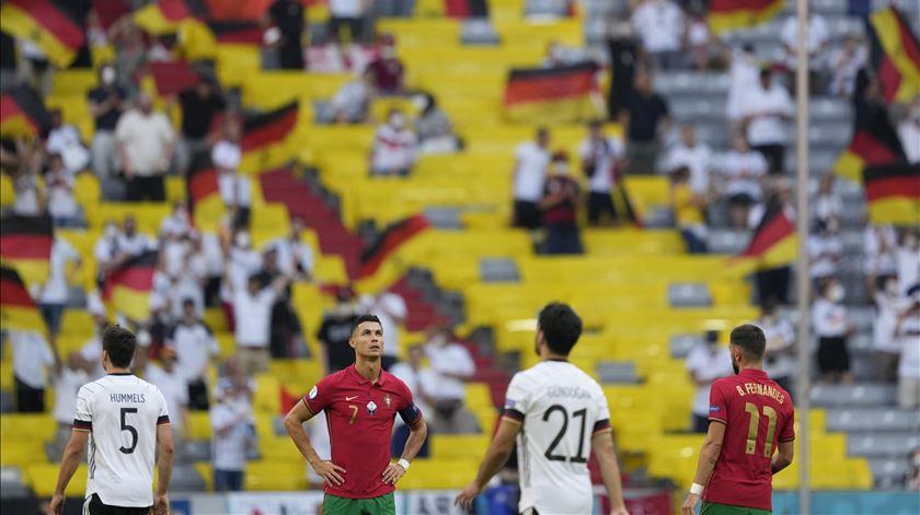 Desilusão de Cristiano Ronaldo. Foto: Hugo Delgado/Lusa