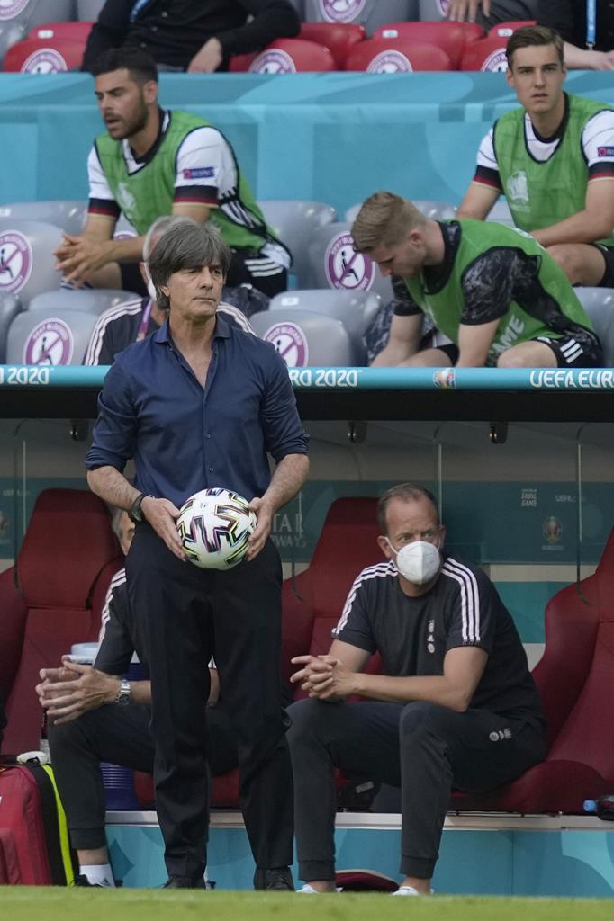 Joachim Low, selecionador da Alemanha contra Portugal no Euro 2020. Foto: Hugo Delgado/Lusa