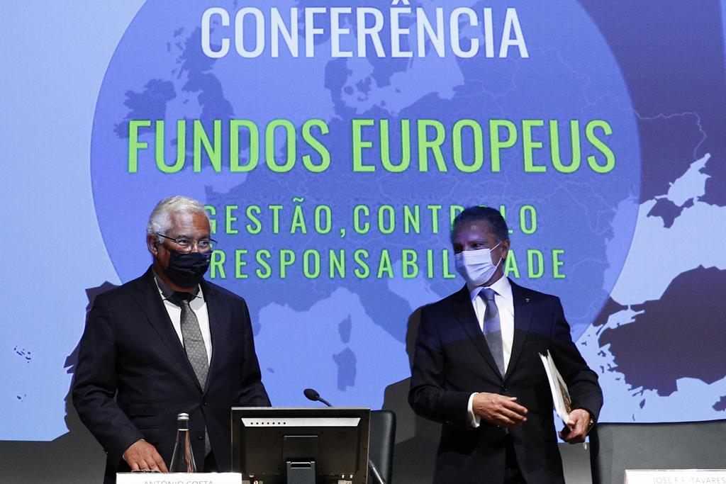António Costa na conferência Fundos Europeus: Gestão, Controlo e Responsabilidades. Foto: António Cotrim/Lusa
